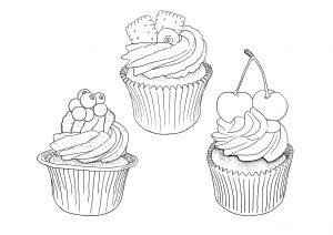 Trois jolis cupcakes