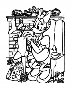 coloriage-daisy-noel free to print