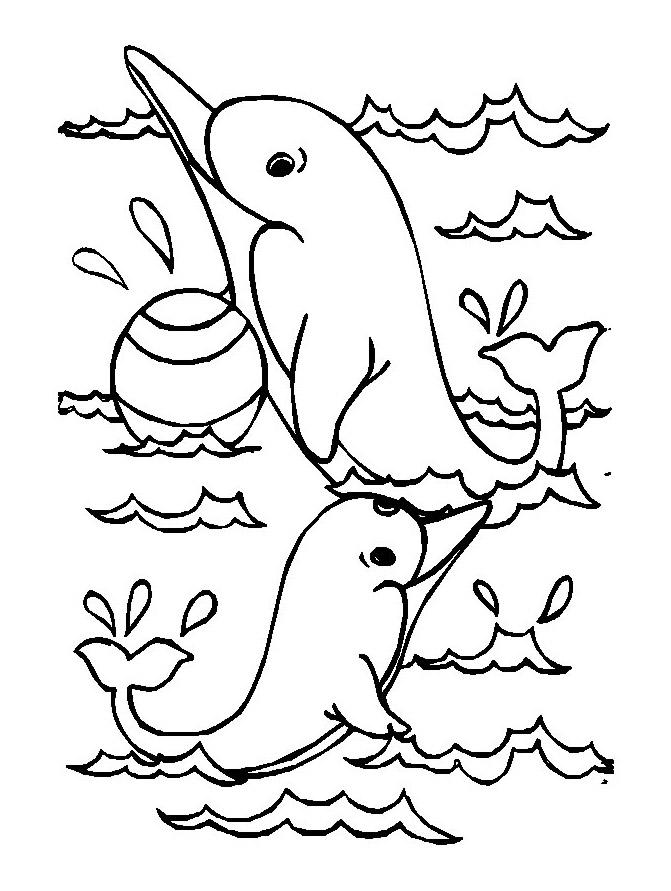 Dauphins 11 coloriage de dauphins coloriages pour enfants - Images dauphins a imprimer ...