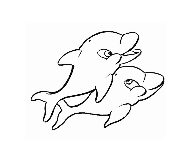 Dauphins 7 coloriage de dauphins coloriages pour enfants - Dauphin a dessiner ...