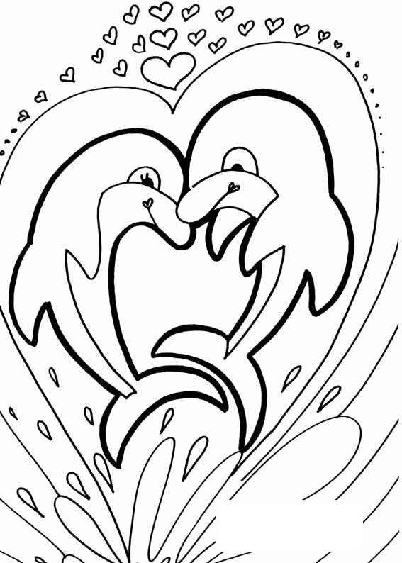 Coloriage Dauphin Coeur.Coloriage Dauphin 10 Coloriage De Dauphins Coloriages Pour Enfants