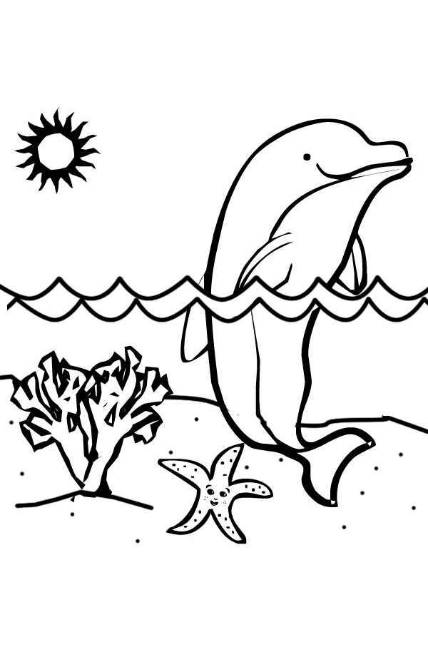 Coloriage Dauphin A Imprimer Gratuit.Coloriage De Dauphins Coloriages Pour Enfants