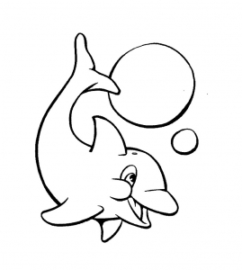 coloriage-dauphins-3 free to print