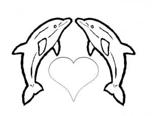 Coloriage de dauphins coloriages pour enfants - Dauphin a dessiner ...