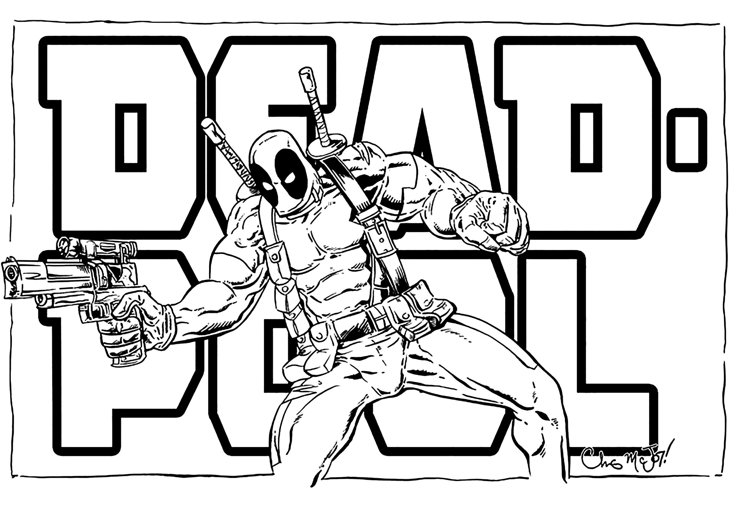Coloriage Deadpool A Imprimer Coloriage Deadpool Coloriages Pour Enfants