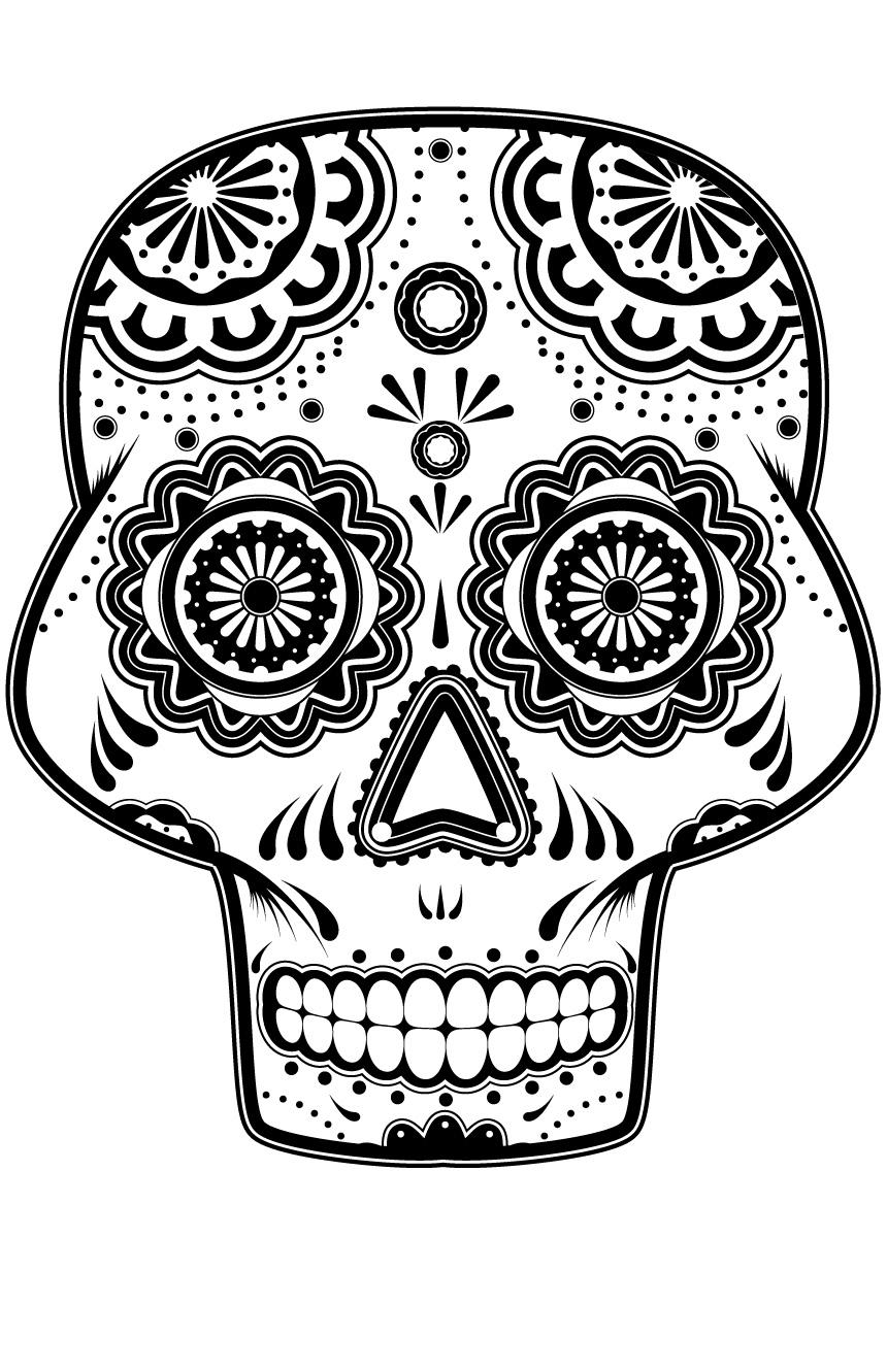 Coloriage gratuit Día de los Muertos