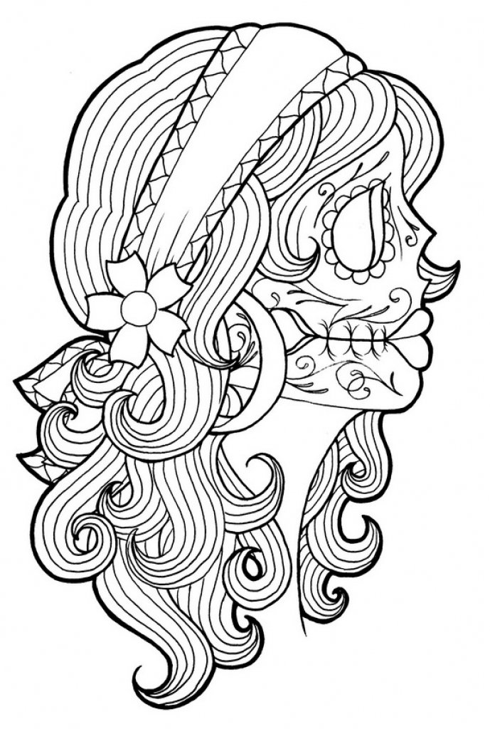Day Of The Dead Coloring Pages Getcoloringpages For Dia De