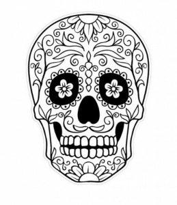 1000 Images About Holidays Da De Los Muertos On Pinterest with regard to Dia De Los Muertos Coloring Page pertaining to Inspire to color an image