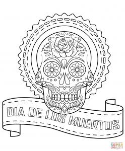 Coloriage de Días de los muertos (Le jour des morts) pour enfants
