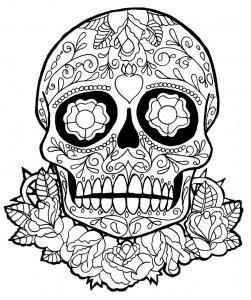 Coloriage de Días de los muertos (Le jour des morts) à telecharger gratuitement