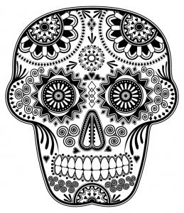Image de Días de los muertos (Le jour des morts) à imprimer et colorier