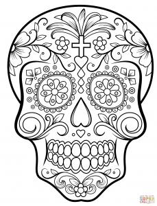 Coloriage de Días de los muertos (Le jour des morts) à imprimer gratuitement