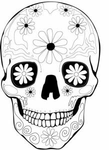 Day Of The Dead Coloring And Craft Activities with regard to Dia De Los Muertos Coloring Page pertaining to Inspire to color an image