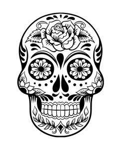 Coloriage de Días de los muertos (Le jour des morts) à imprimer