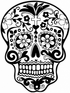 Day Of The Dead Skull Coloring Pages Az Coloring Pages within Dia De Los Muertos Coloring Page pertaining to Inspire to color an image
