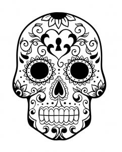 Dessin de Días de los muertos (Le jour des morts) gratuit à imprimer et colorier