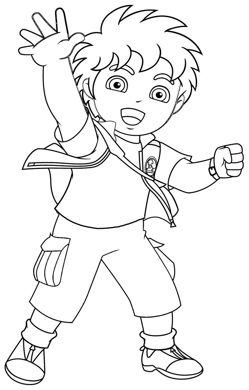 Coloriages diego 5 coloriage diego coloriages pour enfants - Dessin a colorier de dora ...