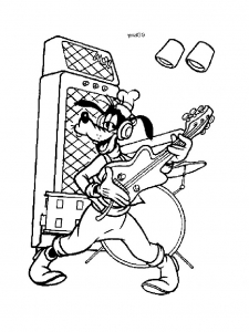 coloriage-dingo-guitare free to print