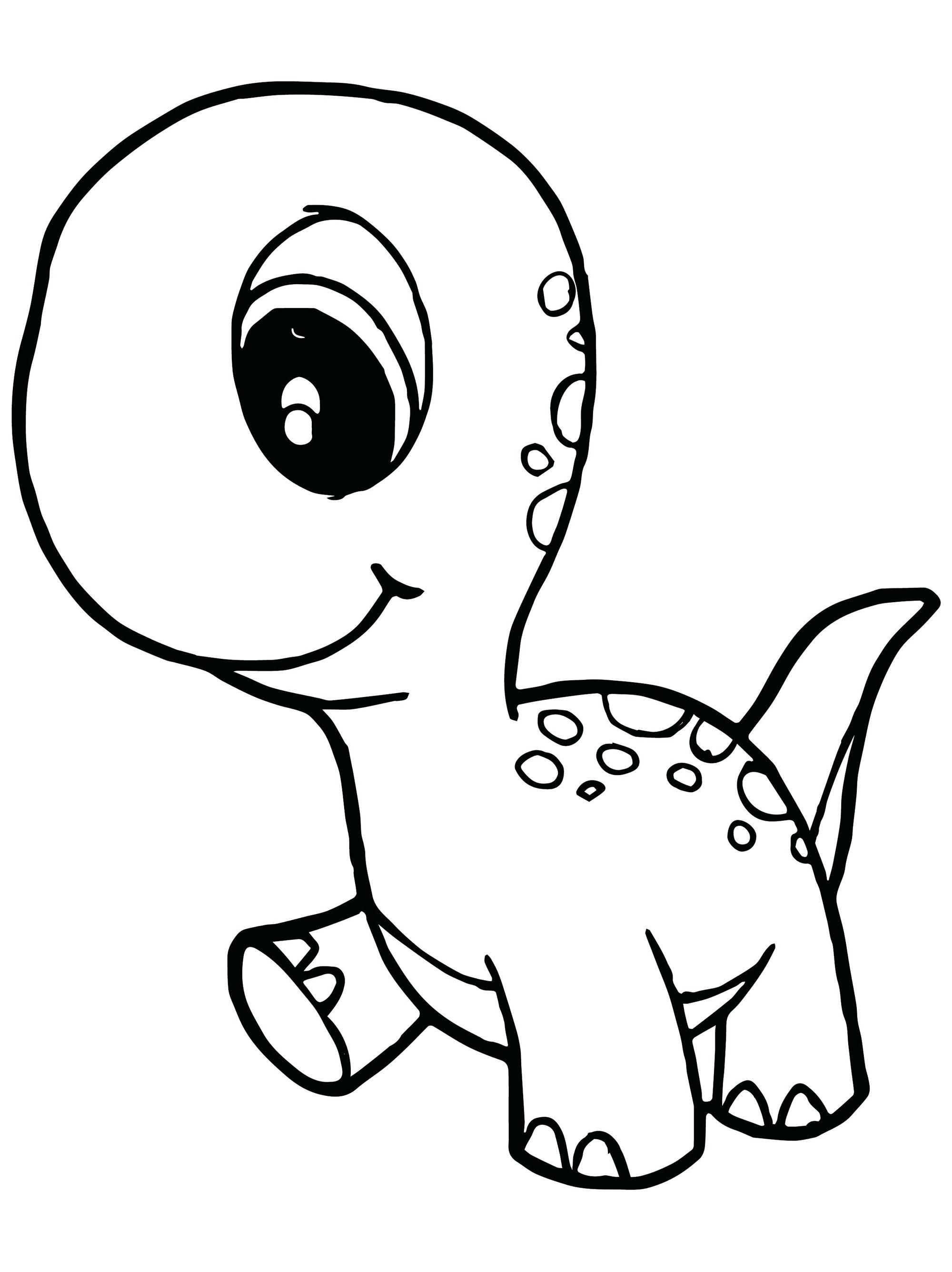 Ce petit dinosaure aux grands yeux attends ses couleurs !