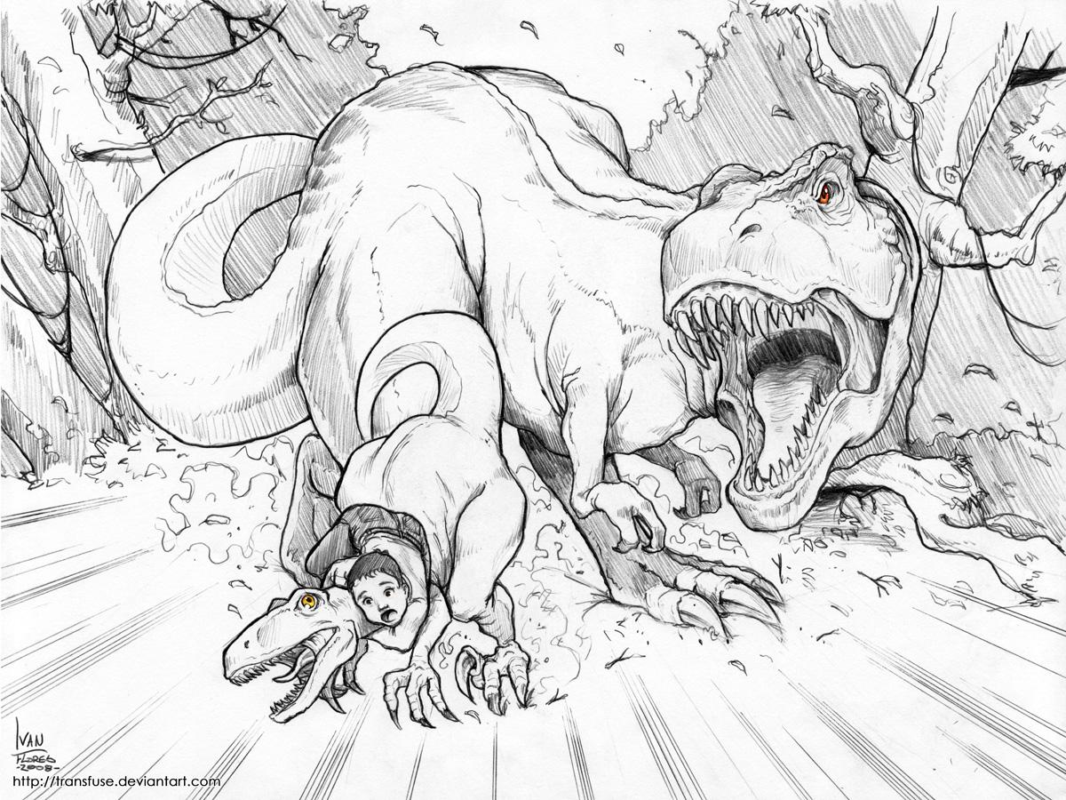Un T Rex furax magnifiquement dessiné