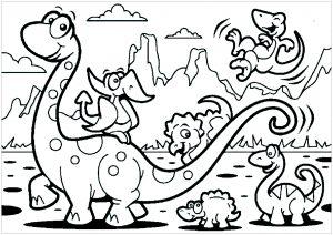 Famille dinosaure