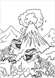 Deux dinosaures en promenade