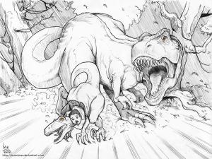 Coloriage T Rex furax ! free to print