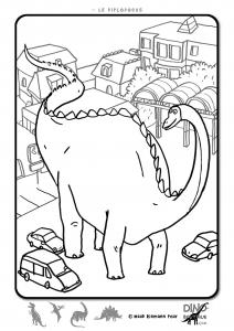 Brachiosaure à colorier