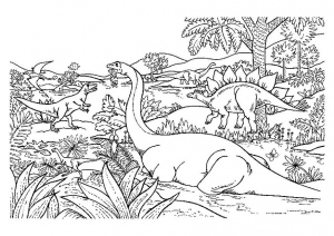 Coloriage Dinosaures free to print