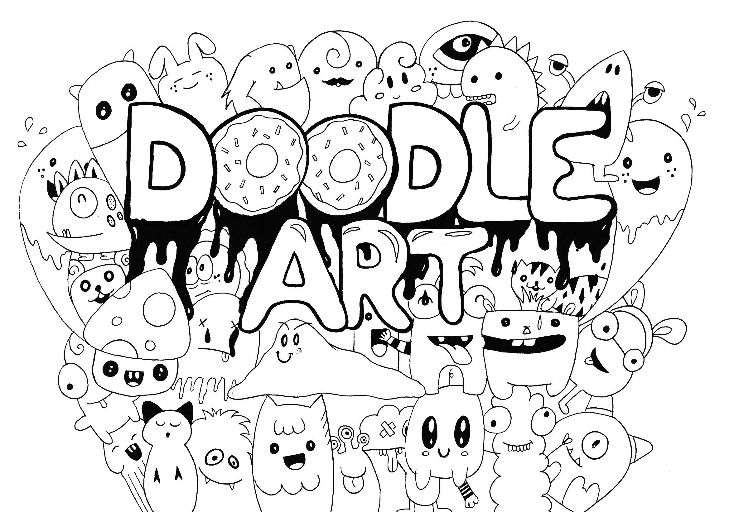 Doodle Art Rachel - Coloriage Doodle Art - Coloriages Pour Enfants