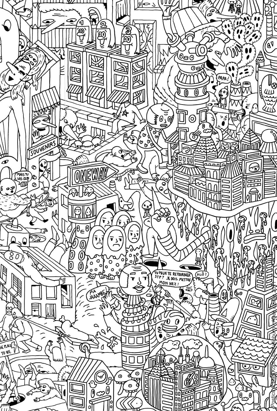 Doodling gribouillage doodle art 3 coloriage doodle art - Coloriage art ...