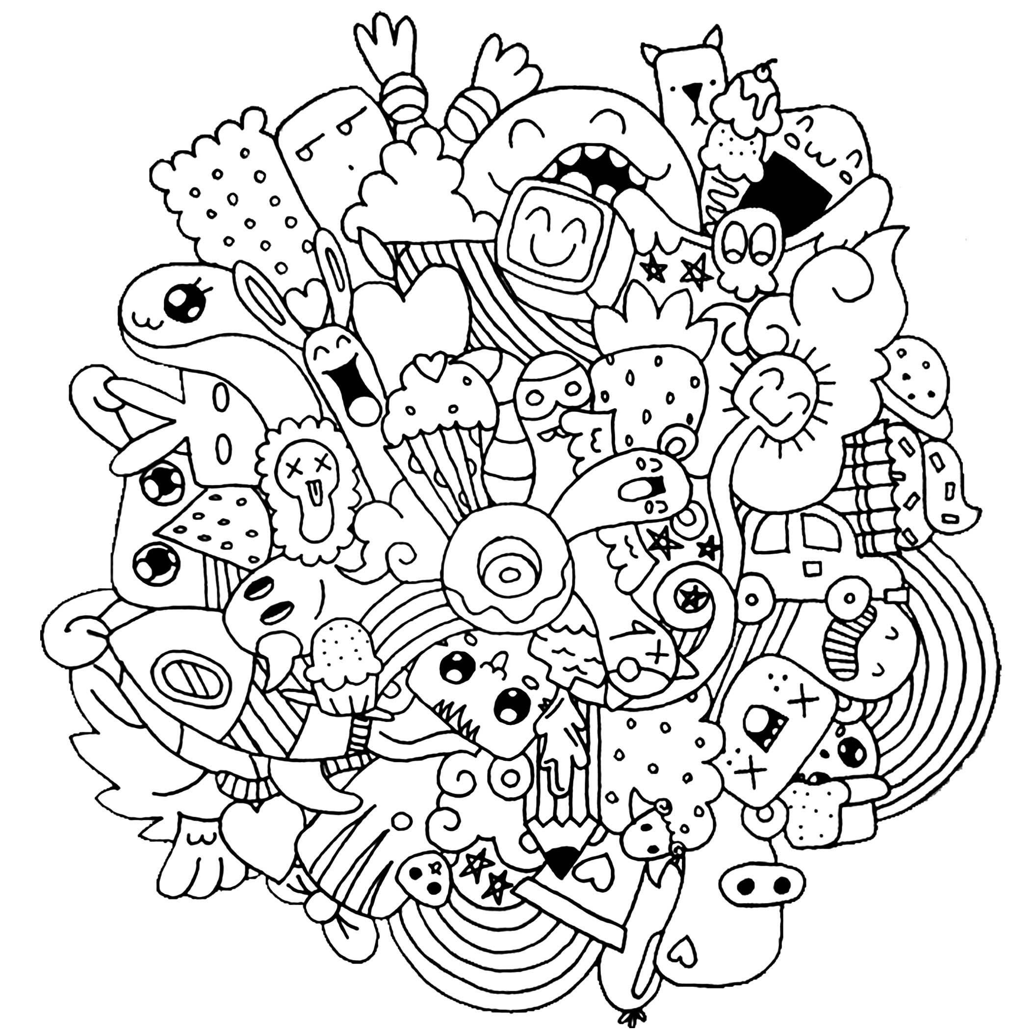 A vous de choisir les meilleures couleurs pour ce Doodle fou !