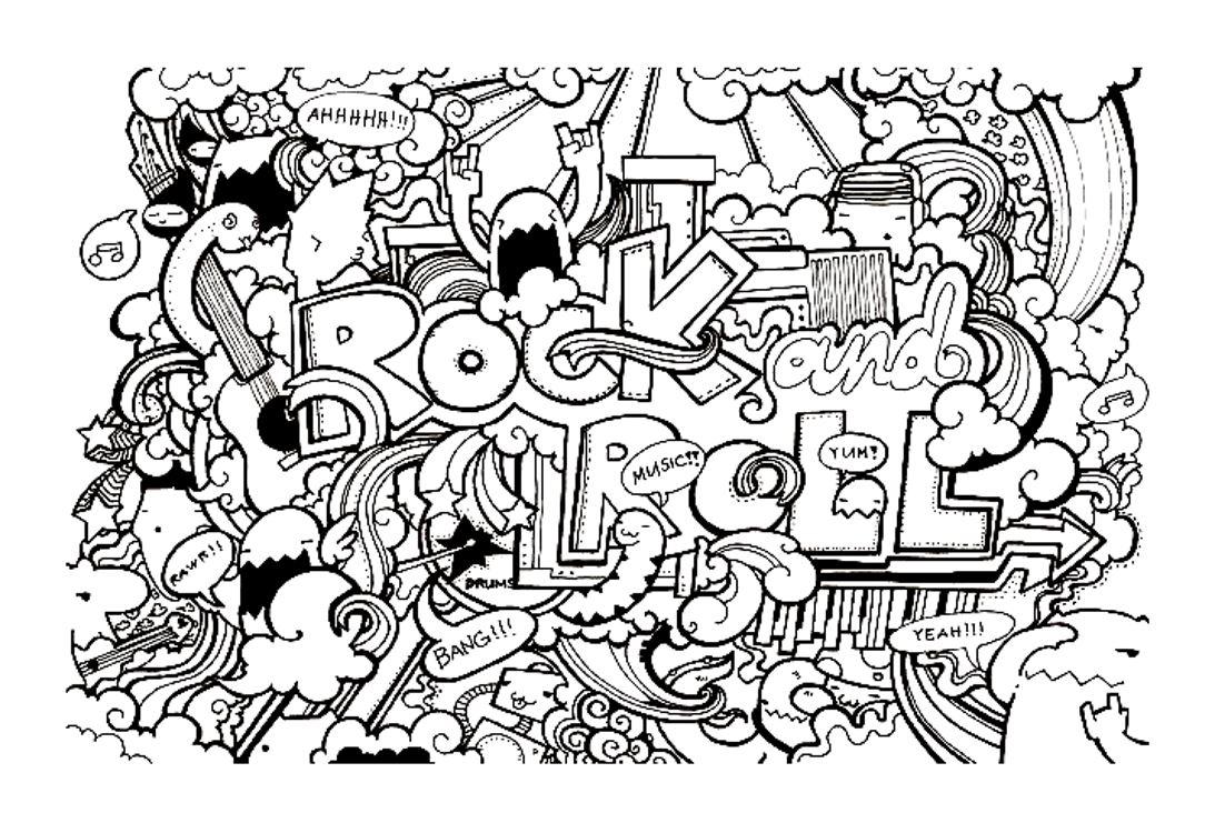 Gribouillage doodle art 11 coloriage doodle art - Coloriage art ...