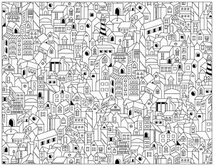 Coloriage doodle city
