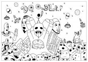 Coloriage doodle fun allan