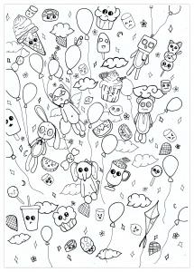 Coloriage doodle fun par chloe