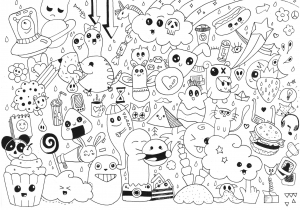 Coloriage doodle par rachel