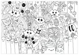Coloriage doodle totoro par chloe
