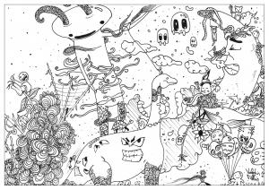 Coloriage doodle world par valentin