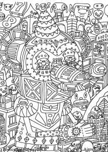 coloriage doodling gribouillage doodle art 1