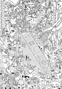 coloriage doodling gribouillage doodle art 2