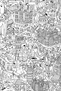 coloriage doodling gribouillage doodle art 3