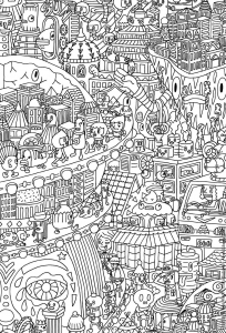 coloriage doodling gribouillage doodle art 5