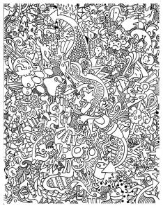coloriage doodling gribouillage doodle art 6