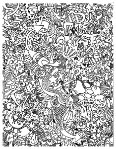 coloriage gribouillage doodle art 2