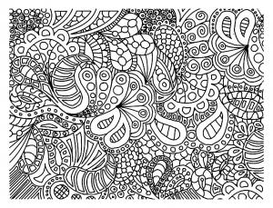 Coloriage gribouillage doodle art 5