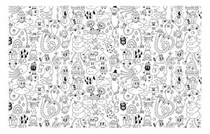 Coloriage gribouillage doodle art 6