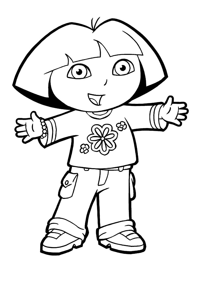 Coloriage De Dora L Exploratrice A Imprimer Pour Enfants