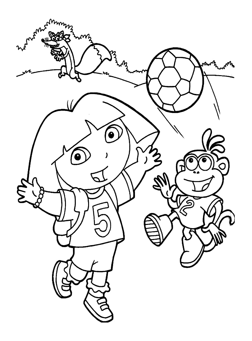 Dora lexploratrice 9 coloriages de dora l 39 exploratrice - Coloriages dora ...