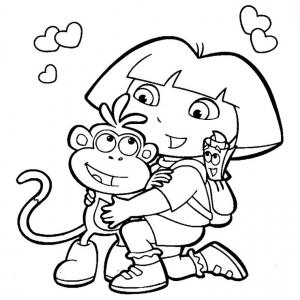 Coloriage de Dora l'exploratrice pour enfants